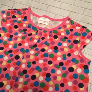 Hanna Andersson Pink Dots Dress Girl's 6-7